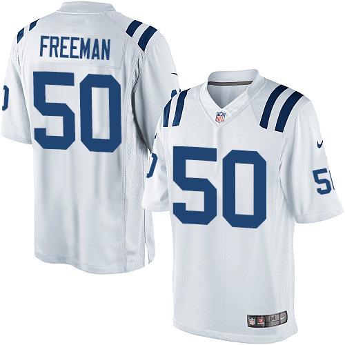 Nike Indianapolis Colts 50 Jerrell Freeman White Game Jerseys