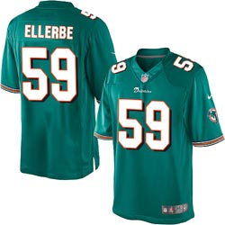 Nike Miami Dolphins 59 Dannell Ellerbe Green Game Jersey