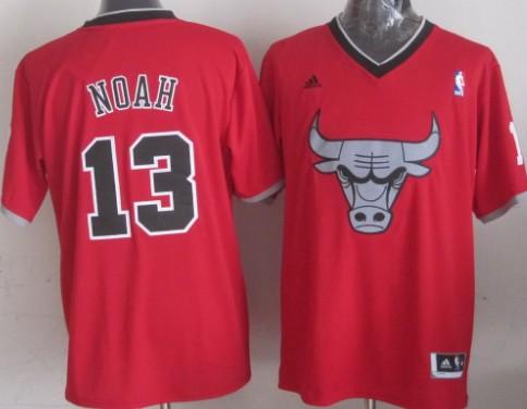 Chicago Bulls #13 Joakim Noah Revolution 30 Swingman 2013 Christmas Day Red Jersey