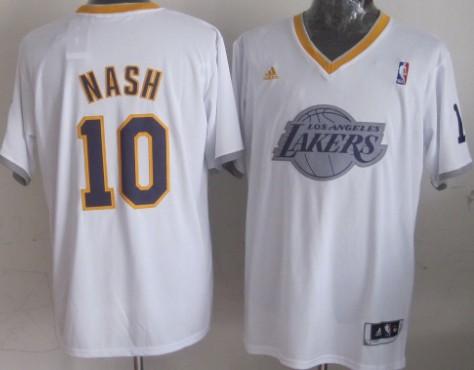 Los Angeles Lakers #10 Steve Nash Revolution 30 Swingman 2013 Christmas Day White Jersey