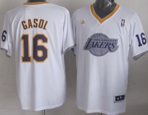 Los Angeles Lakers #16 Pau Gasol Revolution 30 Swingman 2013 Christmas Day White Jersey