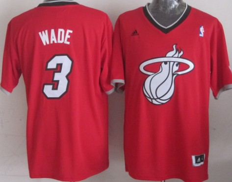 Miami Heat #3 Dwyane Wade Revolution 30 Swingman 2013 Christmas Day Red Jersey
