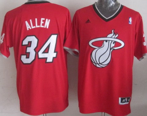 Miami Heat #34 Ray Allen Revolution 30 Swingman 2013 Christmas Day Red Jersey