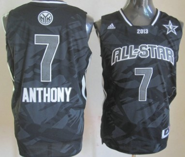 New York Knicks #7 Carmelo Anthony 2013 All-Star Revolution 30 Swingman Gray Jersey