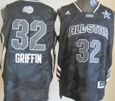 Los Angeles Clippers #32 Blake Griffin 2013 All-Star Revolution 30 Swingman Gray Jersey