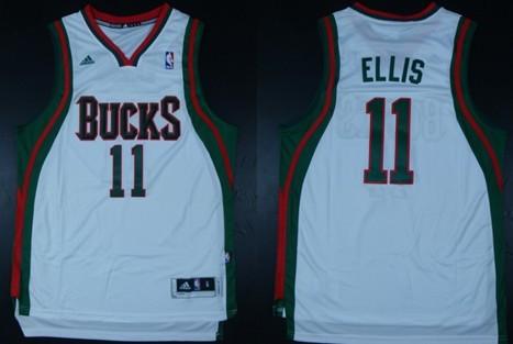 Milwaukee Bucks #11 Monta Ellis Revolution 30 Swingman White Jersey