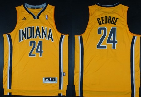 Indiana Pacers #24 Paul George Revolution 30 Swingman Yellow Jersey
