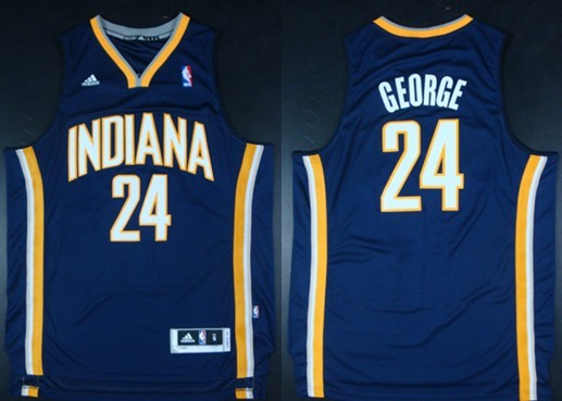 Indiana Pacers #24 Paul George Revolution 30 Swingman Navy Blue Jersey