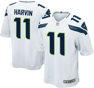 Nike Seattle Seahawks 11 Percy Harvin White Game Jersey