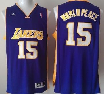 Los Angeles Lakers #15 World Peace Revolution 30 Swingman Purple Jersey