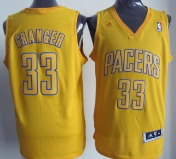 Indiana Pacers #33 Danny Granger Revolution 30 Swingman Yellow Big Color Jersey