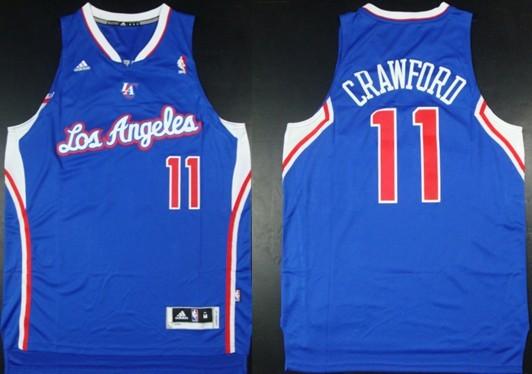 Los Angeles Clippers #11 Jamal Crawford Revolution 30 Swingman Blue Jersey