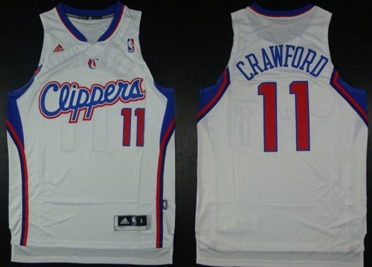 Los Angeles Clippers #11 Jamal Crawford Revolution 30 Swingman White Jersey