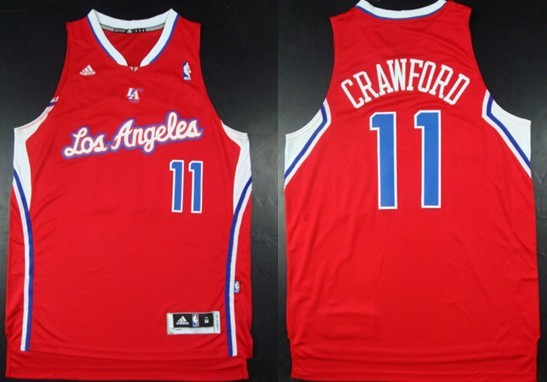 Los Angeles Clippers #11 Jamal Crawford Revolution 30 Swingman Red Jersey