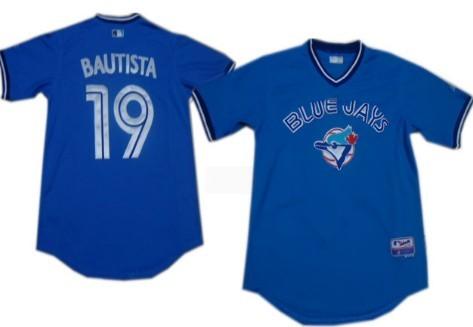 Toronto Blue Jays #19 Jose Bautista Light Blue Cooperstown Cool Base Jersey