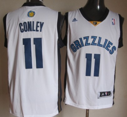 Memphis Grizzlies #11 Mike Conley Revolution 30 Swingman White Jersey