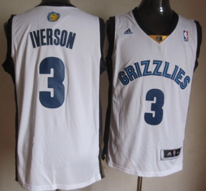 Memphis Grizzlies #3 Allen Iverson Revolution 30 Swingman White Jersey