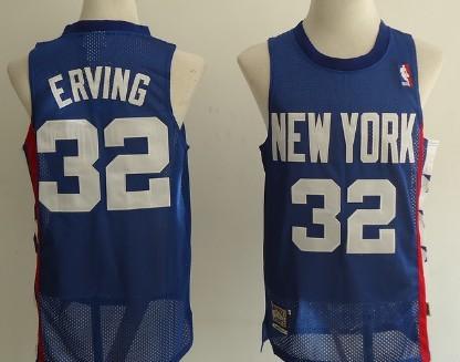 New Jersey Nets #32 Julius Erving Blue Throwback Swingman Jersey