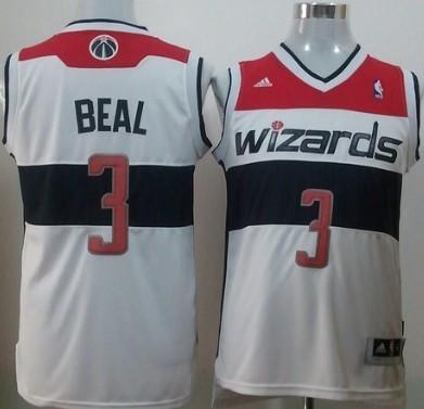 Washington Wizards #3 Bradley Beal Revolution 30 Swingman White Jersey