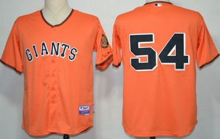 San Francisco Giants #54 Sergio Romo Orange Jersey