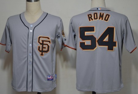 San Francisco Giants #54 Sergio Romo 2012 Gray Jersey