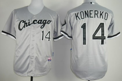 Chicago White Sox #14 Paul Konerko Gray Jersey