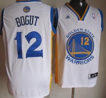Golden State Warriors #12 Andrew Bogut Revolution 30 Swingman White Jersey