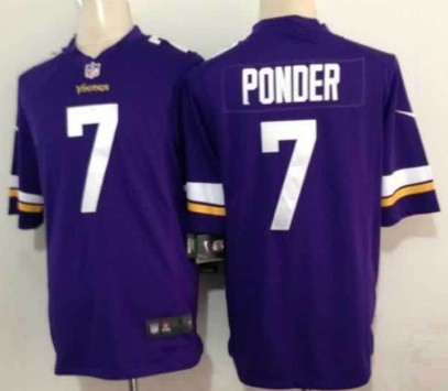 Nike Minnesota Vikings #7 Christian Ponder 2013 Purple Game Jersey