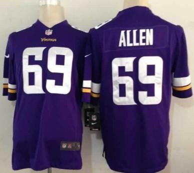 Nike Minnesota Vikings #69 Jared Allen 2013 Purple Game Jersey