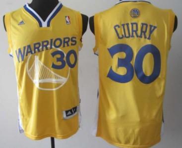 Golden State Warriors #30 Stephen Curry Revolution 30 Swingman Yellow Jersey