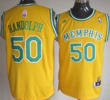 Memphis Grizzlies #50 Zach Randolph ABA Hardwood Classic Swingman Yellow Jersey