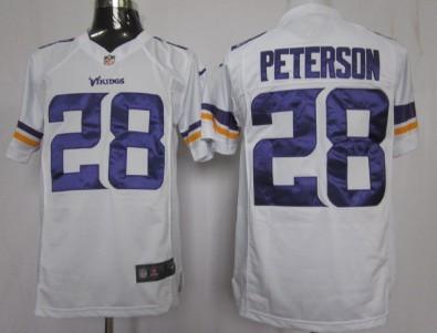 Nike Minnesota Vikings #28 Adrian Peterson 2013 White Game Jersey