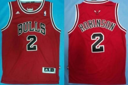 Chicago Bulls #2 Nate Robinson Revolution 30 Swingman Red Jersey