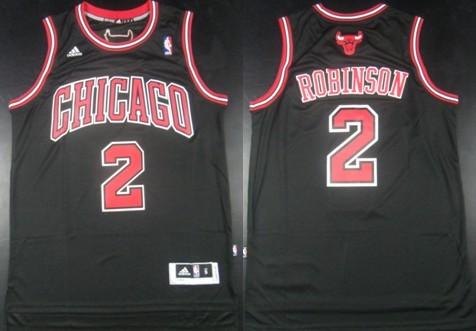 Chicago Bulls #2 Nate Robinson Revolution 30 Swingman Black Jersey