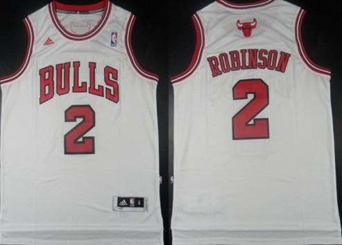 Chicago Bulls #2 Nate Robinson Revolution 30 Swingman White Jersey