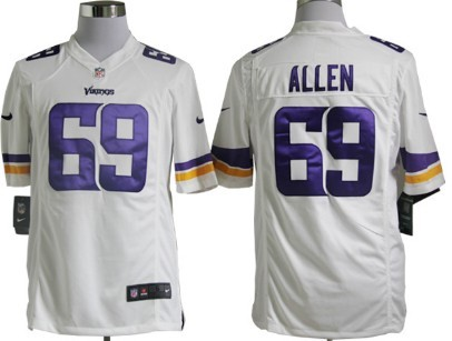 Nike Minnesota Vikings #69 Jared Allen 2013 White Game Jersey