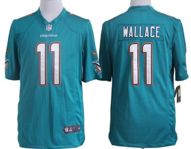 Nike Miami Dolphins #11 Mike Wallace 2013 Green Game Jersey
