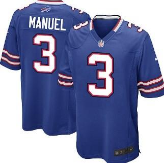 Nike Buffalo Bills #3 EJ Manuel Light Blue Game Jersey
