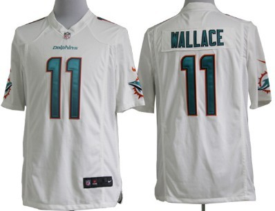 Nike Miami Dolphins #11 Mike Wallace 2013 White Game Jersey