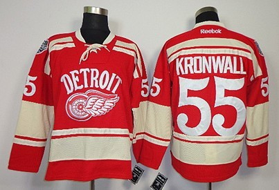 Detroit Red Wings #55 Niklas Kronwall 2014 Winter Classic Red Jersey