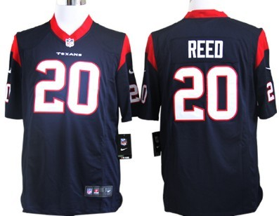 Nike Houston Texans #20 Ed Reed Blue Game Jersey