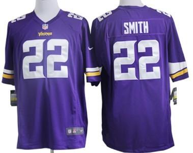Nike Minnesota Vikings #22 Harrison Smith 2013 Purple Game Jersey