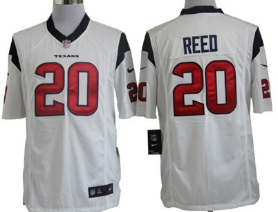 Nike Houston Texans #20 Ed Reed White Game Jersey