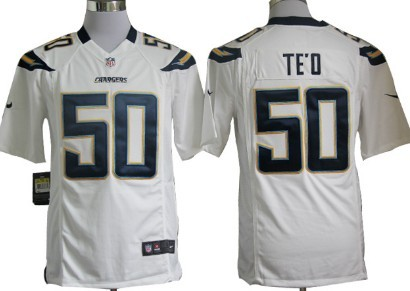 Nike San Diego Chargers Manti Teo White Game Jersey