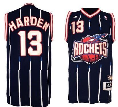 Houston Rockets #13 James Harden ABA Hardwood Classic Swingman Navy Blue Jersey