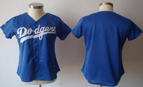 Los Angeles Dodgers Blank Blue Womens Jersey