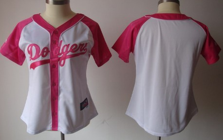 Los Angeles Dodgers Blank 2012 Fashion Womens by Majestic Athletic Jersey