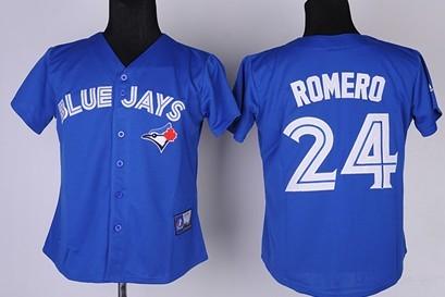 Toronto Blue Jays #24 Ricky Romero 2012 Blue Womens