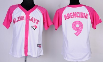 Toronto Blue Jays #9 J. P. Arencibia 2012 Fashion Womens by Majestic Athletic Jersey
