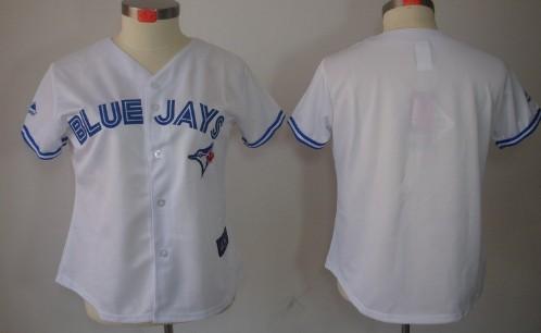 Toronto Blue Jays Blank White Womens Jersey